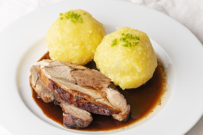 Carne de porco roasted Bavarian foto de stock royalty free