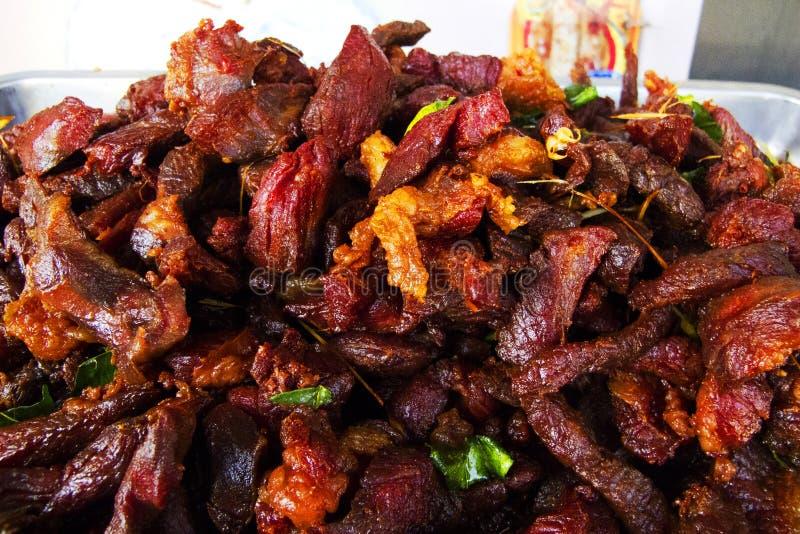 A carne de porco secada fritou imagem de stock royalty free