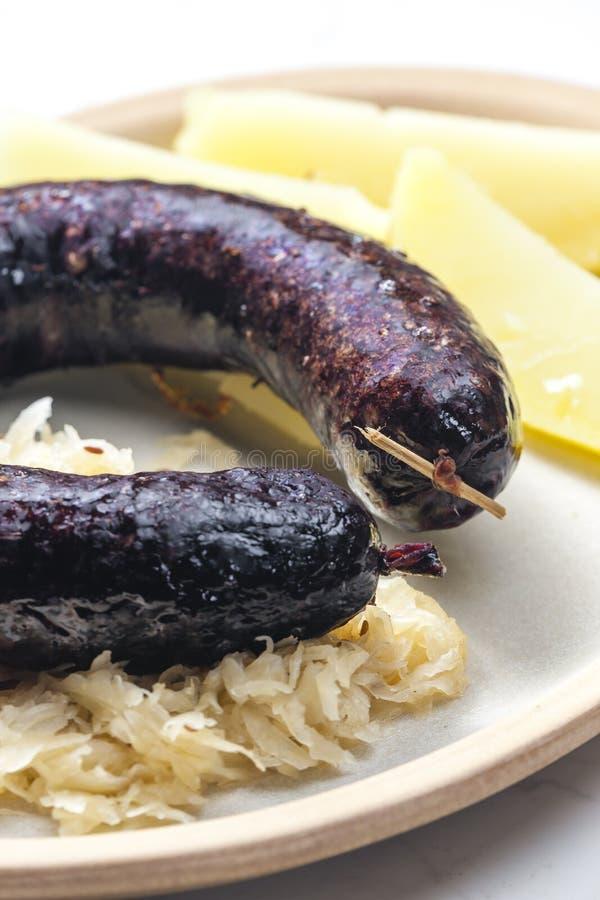 carne de salsicha tradicional, República Checa fotografia de stock royalty free