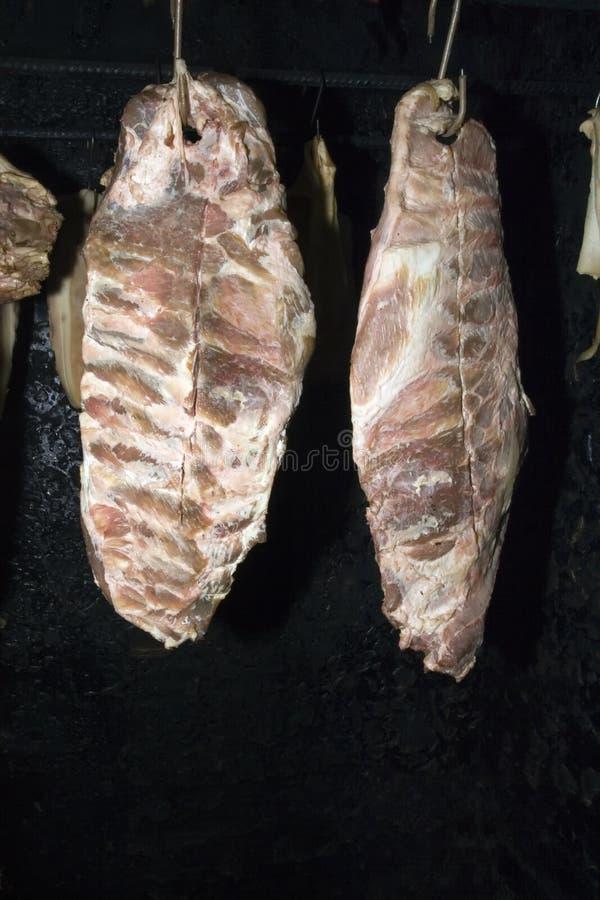 Carne de secagem fotografia de stock royalty free