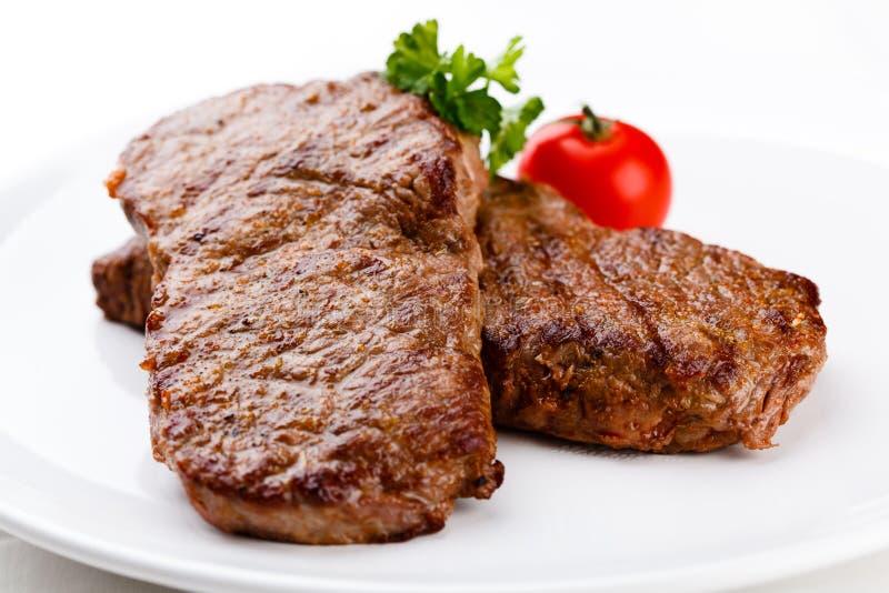 Carne de vaca asada a la parilla imagen de archivo libre de regalías