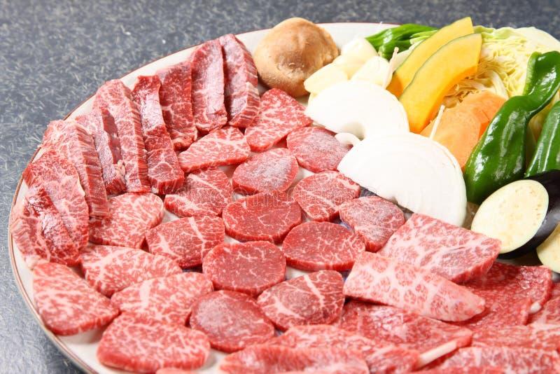 Carne de vaca cortada fotografía de archivo