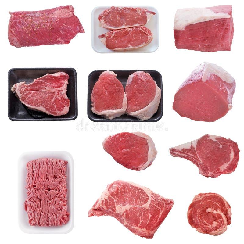 Carne de vaca cruda clasificada fresca foto de archivo libre de regalías