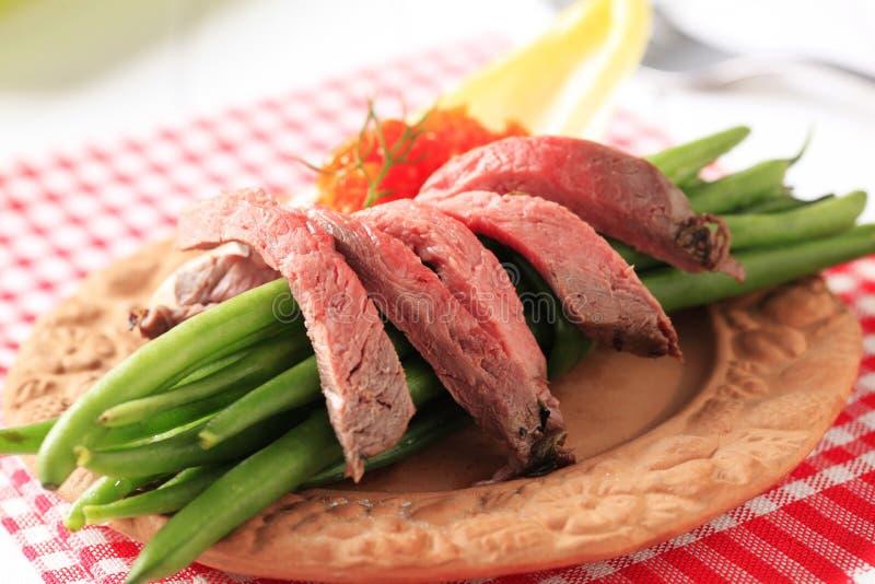 Carne de vaca de carne asada e hilo fotos de archivo libres de regalías