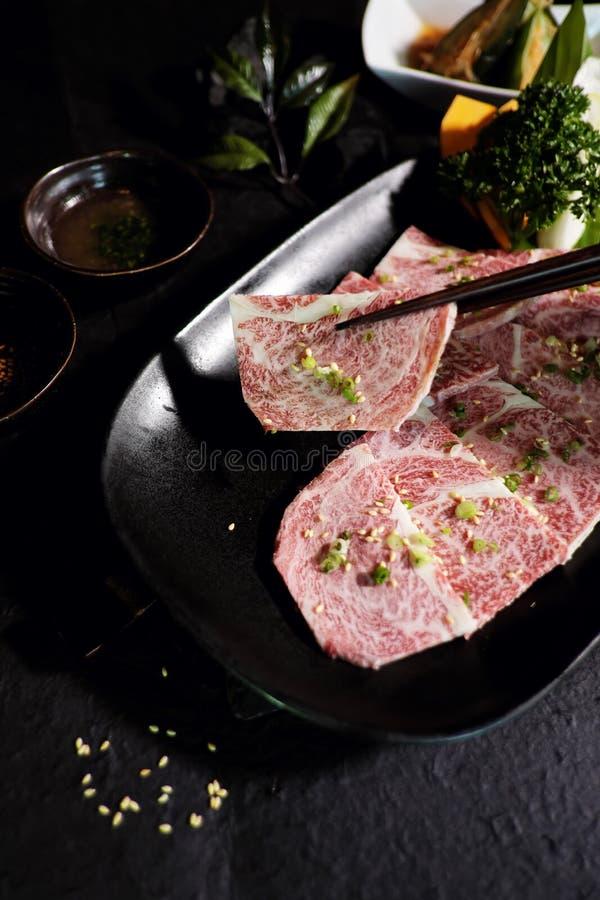 Carne de vaca japonesa A5 de Wagyu imagen de archivo