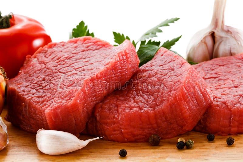 Carne de vaca sin procesar fresca