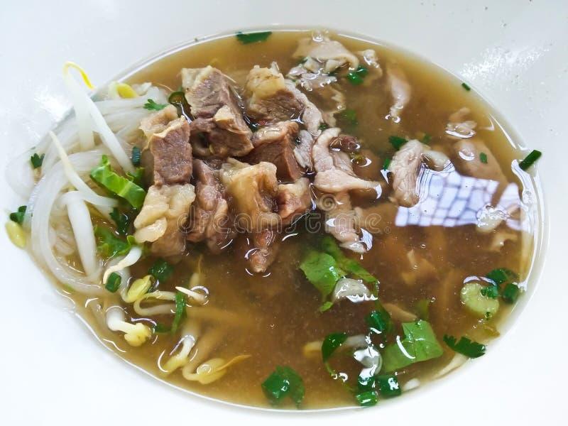 Carne de vaca Stew Noodle Soup imagen de archivo