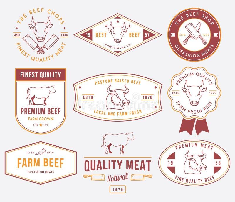 Carne 2 del manzo di qualità colorata royalty illustrazione gratis