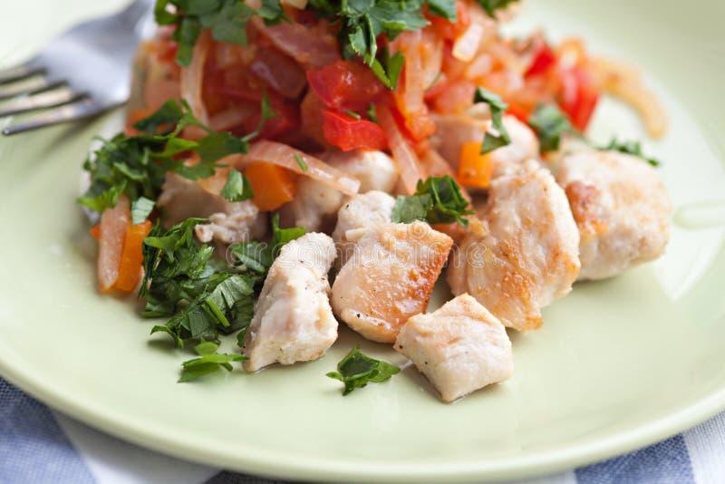 Carne del pollo arrosto immagini stock