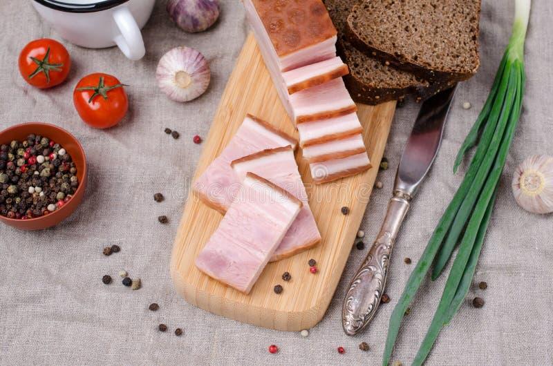 Carne di maiale affumicata fredda fotografia stock