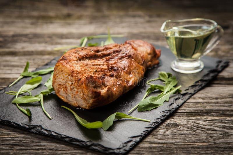 Carne di maiale al forno deliziosa fotografia stock