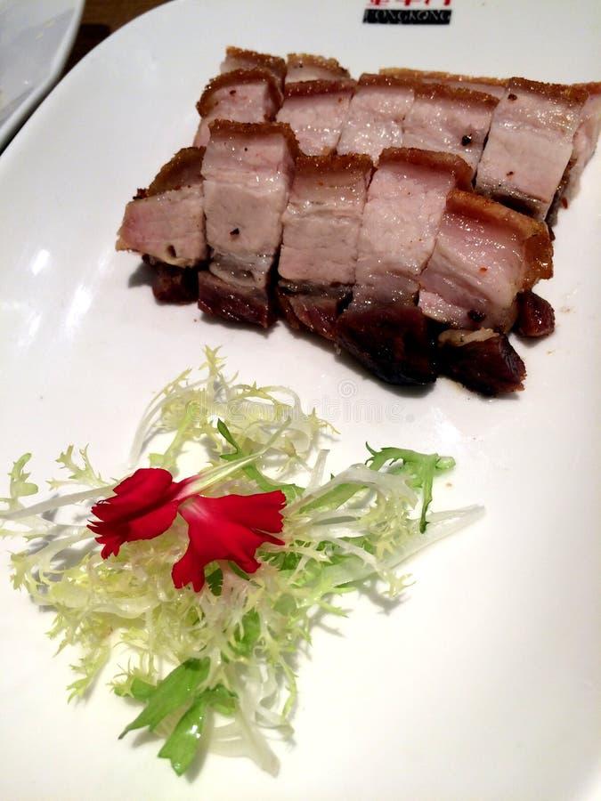 Carne di maiale arrostita col barbecue stile di Guangdong immagini stock libere da diritti