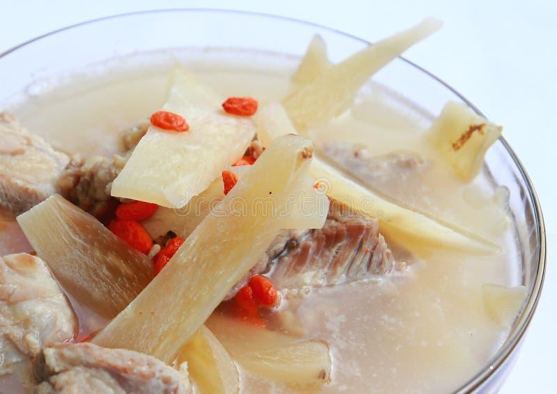 Carne di maiale bollita, medicina cinese fotografie stock