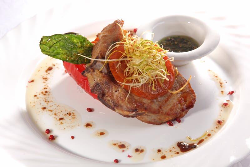 carne di maiale con Berry Sauce fotografia stock libera da diritti