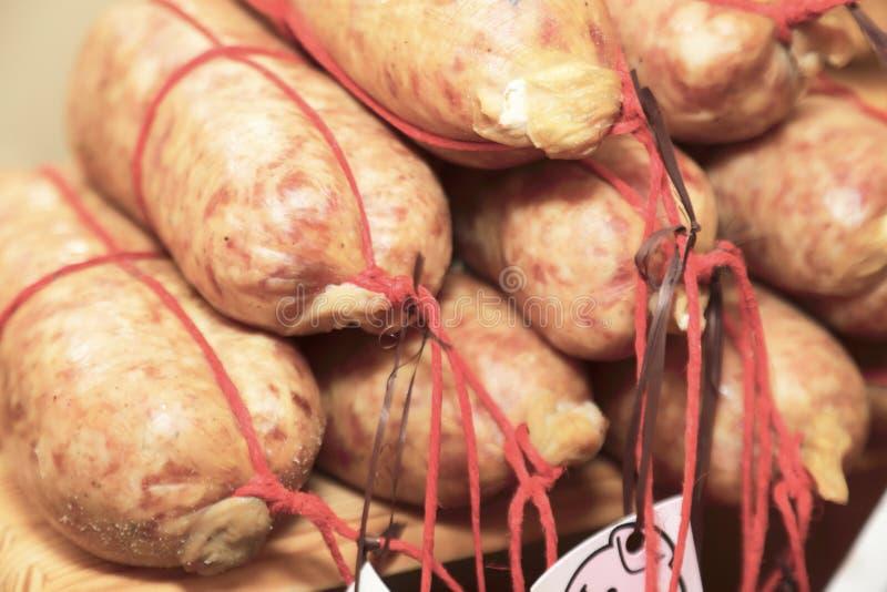 Carne di maiale curata zampone della mortadella del salame fotografie stock libere da diritti