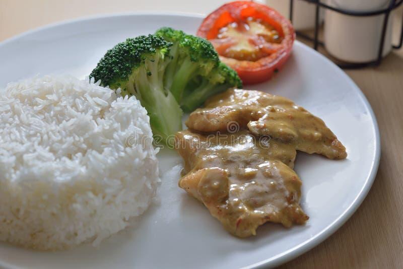 Carne di maiale del curry immagini stock