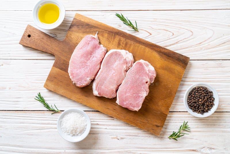 carne di maiale fresca fotografia stock