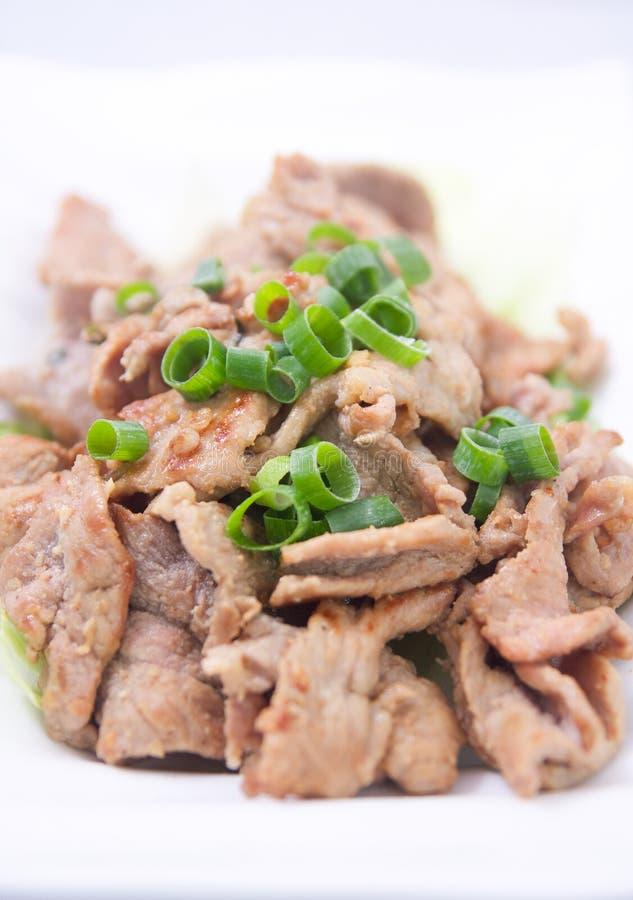 Carne di maiale tailandese del BBQ immagine stock