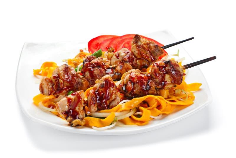 Carne di pollo arrostita fotografie stock