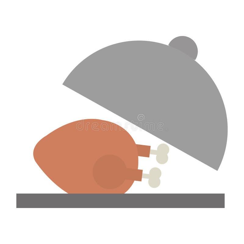 Carne di pollo deliziosa in vassoio royalty illustrazione gratis