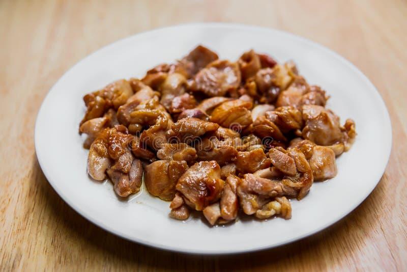 Carne di pollo, piatto, petto di pollo, carne di tacchino, Fried Chicken immagini stock