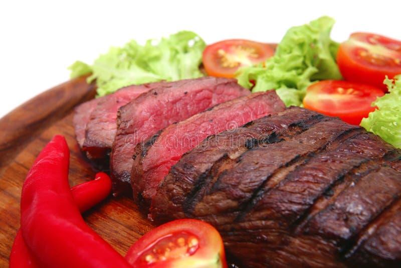 Carne do assado na placa imagem de stock