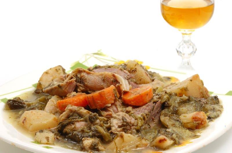 A carne do cordeiro cozinhada com differen fotos de stock