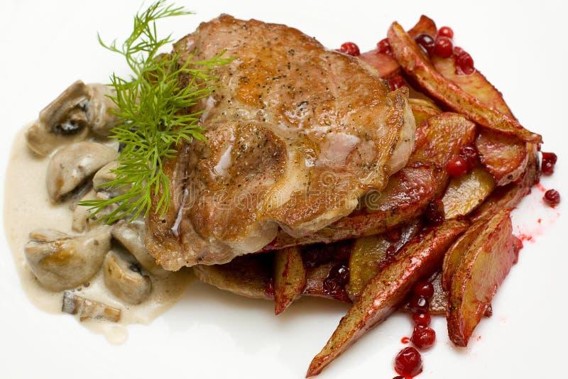 Carne do gourmet - cuisin escandinavo imagens de stock