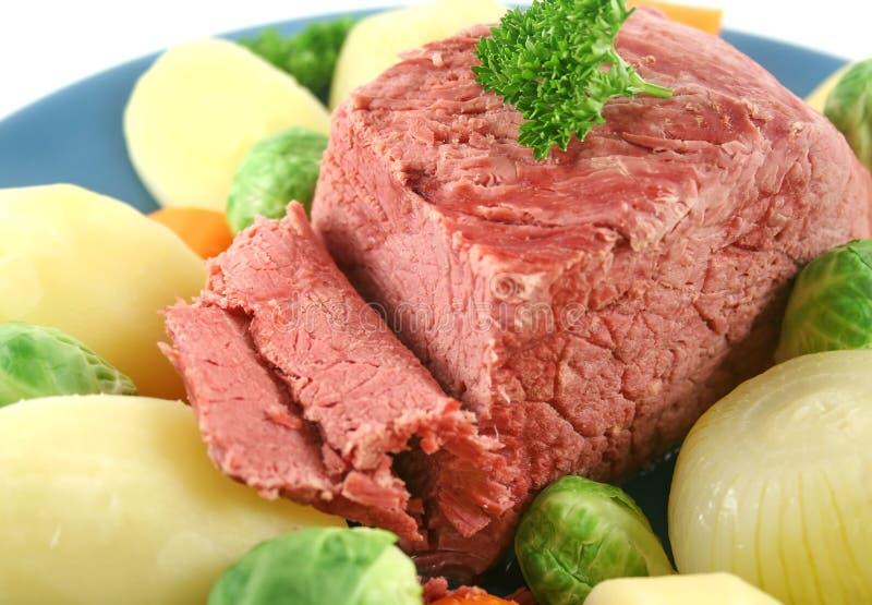 Carne do peito de carne cortada foto de stock