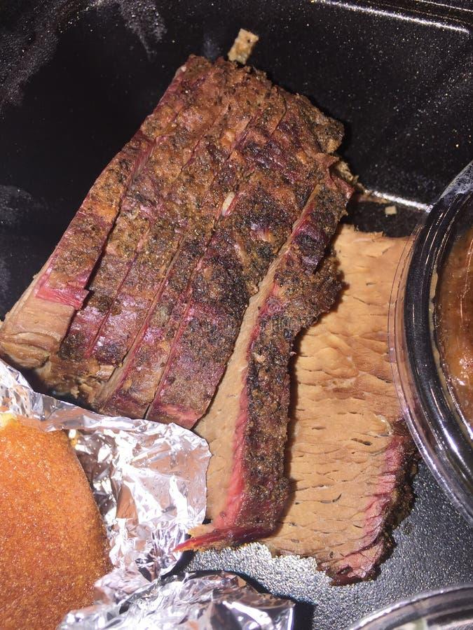 Carne do peito do fumeiro do assado imagem de stock