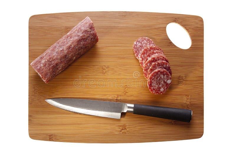 Carne do Salami imagem de stock royalty free