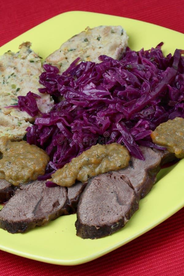 Carne do Venison com pão foto de stock