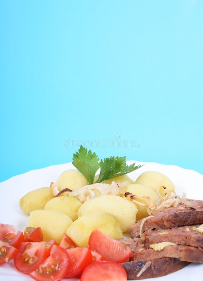 Carne e patate fotografia stock libera da diritti