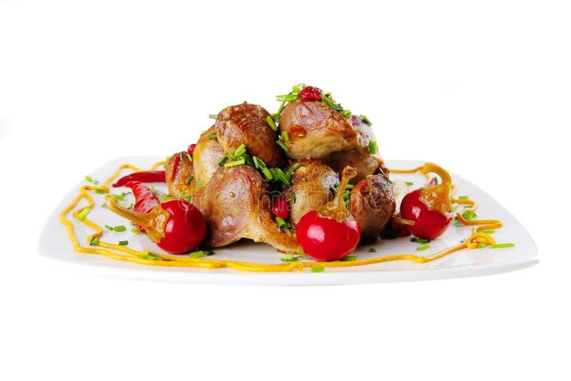 Carne e pimentas quentes imagens de stock royalty free