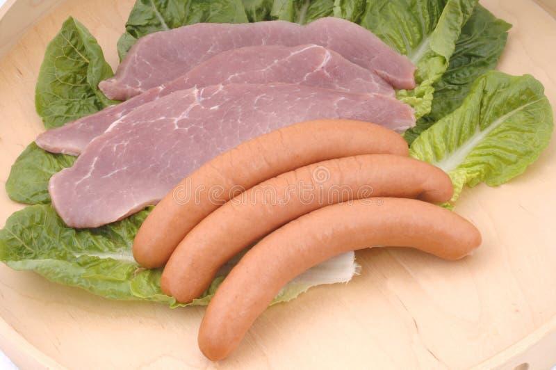 Carne e salsiccia immagini stock libere da diritti
