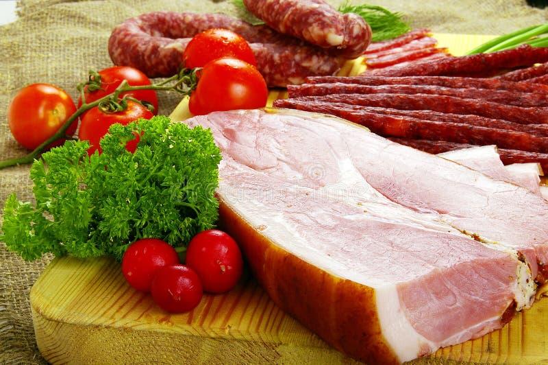 Carne e salsicha imagens de stock royalty free