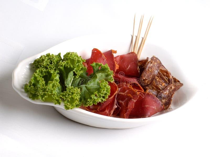 Carne e verdes foto de stock royalty free