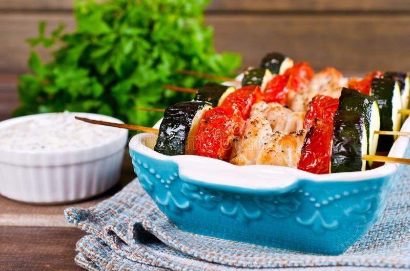 Carne e verdure cotte immagini stock