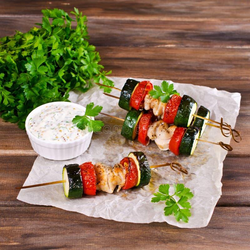 Carne e verdure cotte fotografia stock