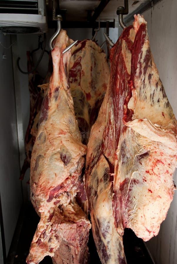 Carne en refrigerador imagen de archivo libre de regalías