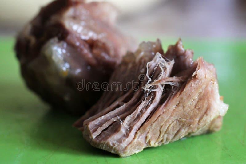 Carne fervida parte tão próxima foto de stock