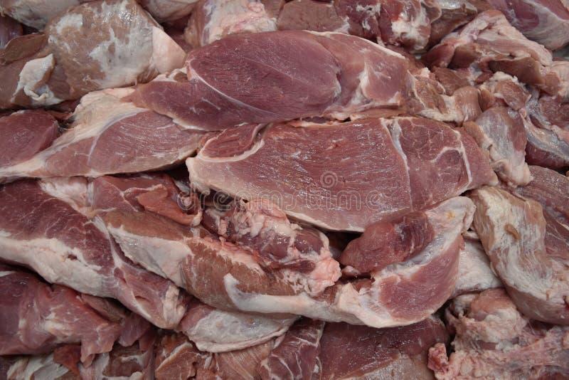 Carne fresca, carne de vaca o cerdo cruda en el supermercado para el ingrediente del filete imagen de archivo libre de regalías