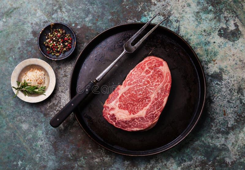 Carne fresca crua Angus Steak imagens de stock royalty free