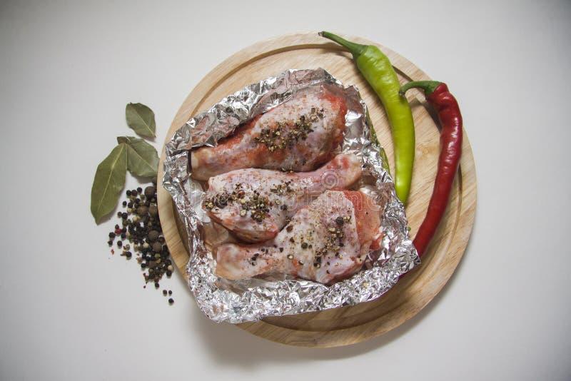 Carne fresca del pollo foto de archivo