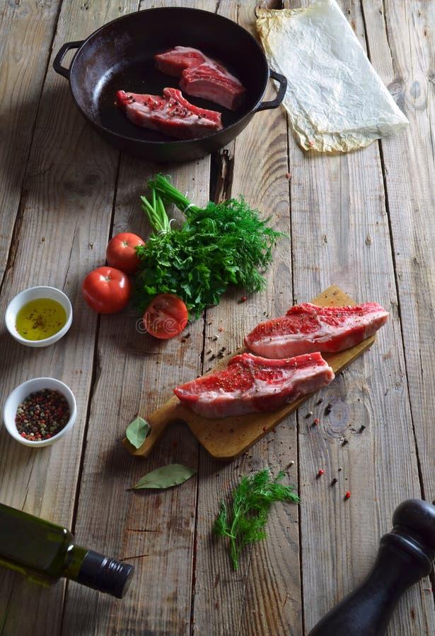 Carne fresca grezza fotografie stock