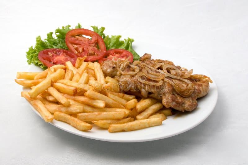 Carne fritada friável imagem de stock