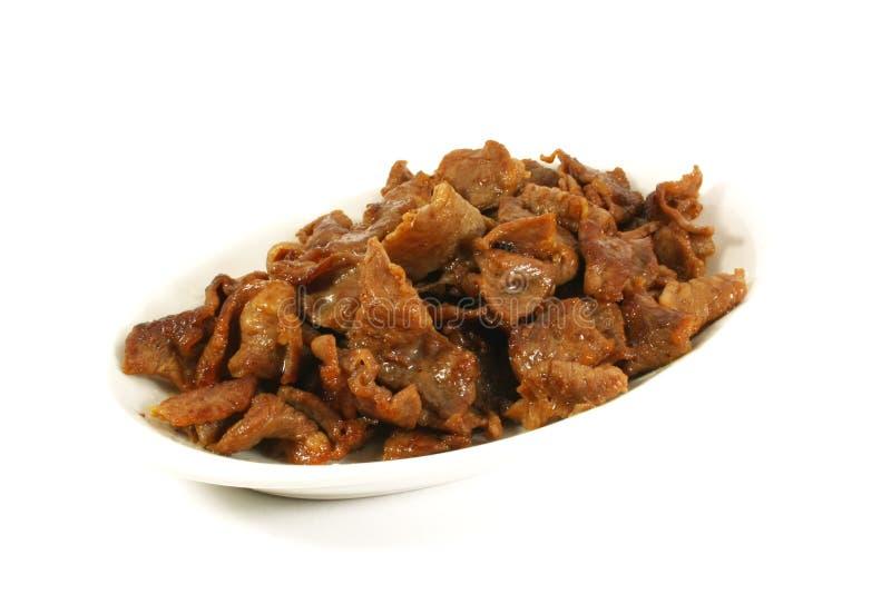 Carne fritada Stir foto de stock