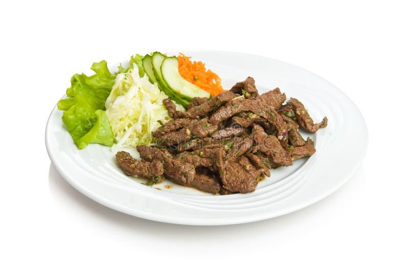Carne fritta sugosa immagine stock libera da diritti