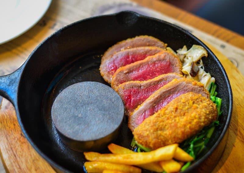 Carne fumado tradicional do wagyu do assado fotografia de stock royalty free