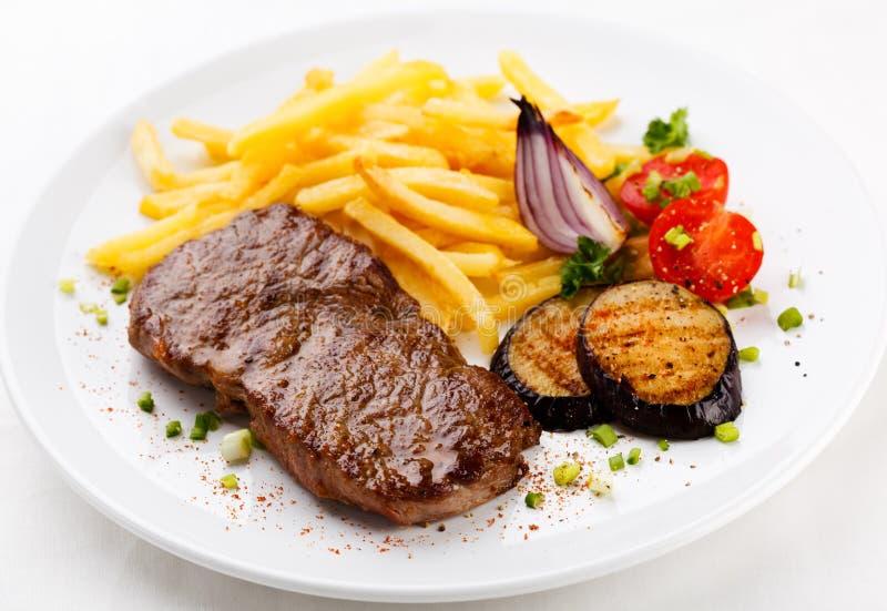 Carne grelhada imagens de stock